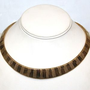 VTG Gold Plate Omega High End Necklace BX1